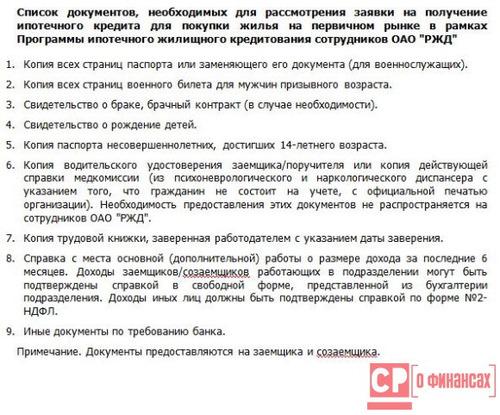 банк москвы перечень документов для ипотеки справа